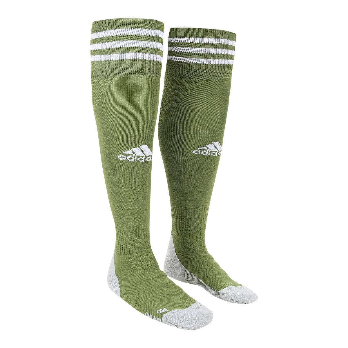 f64257f266 Meião Adidas Aditop 18 - Verde - Compre Agora