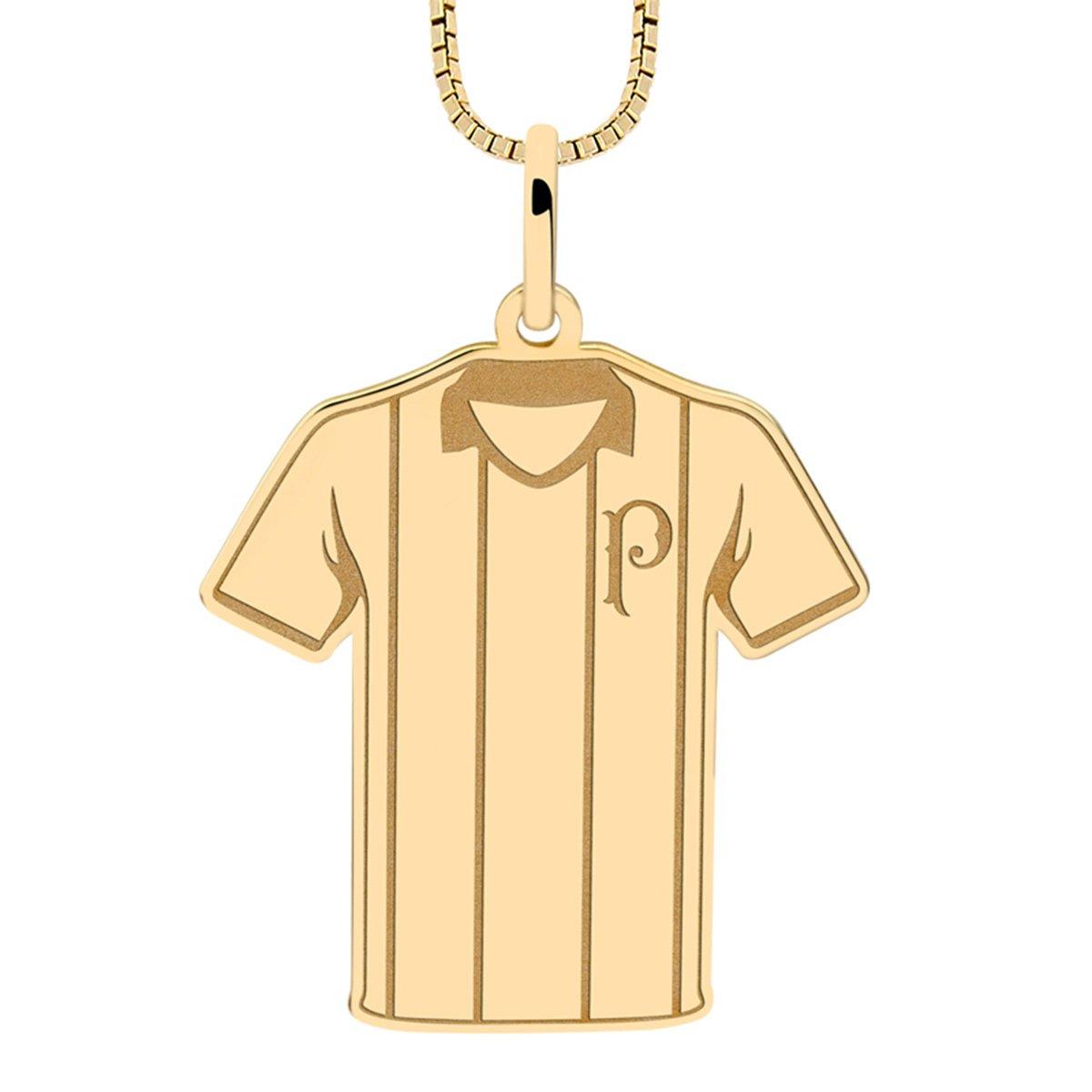 Pingente Infantil Palmeiras Camisa Listrada Folheado a Ouro ... 637373b2f5042