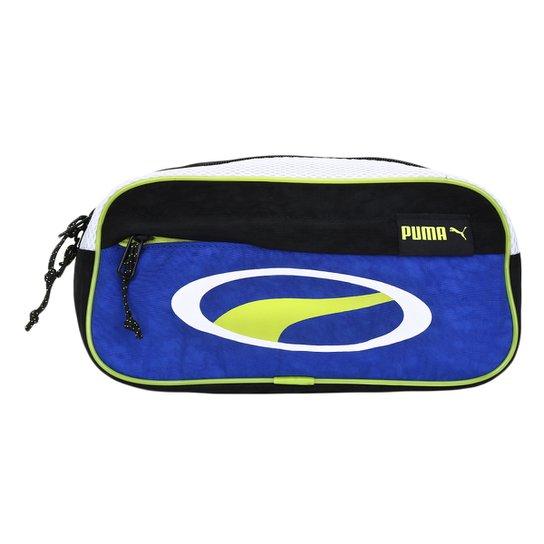 Pochete Puma Cell Waist Bag - Preto+Azul