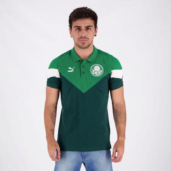 Polo Puma Palmeiras Mcs Masculina - Verde
