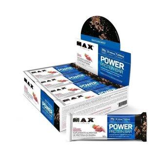 POWER PROTEIN BAR 8 UNIDADES - MAX TITANIUM (PEANUT BUTTER)