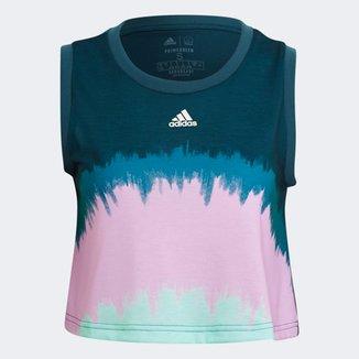 Regata Cropped Adidas Farm Rio Tie Die Feminina