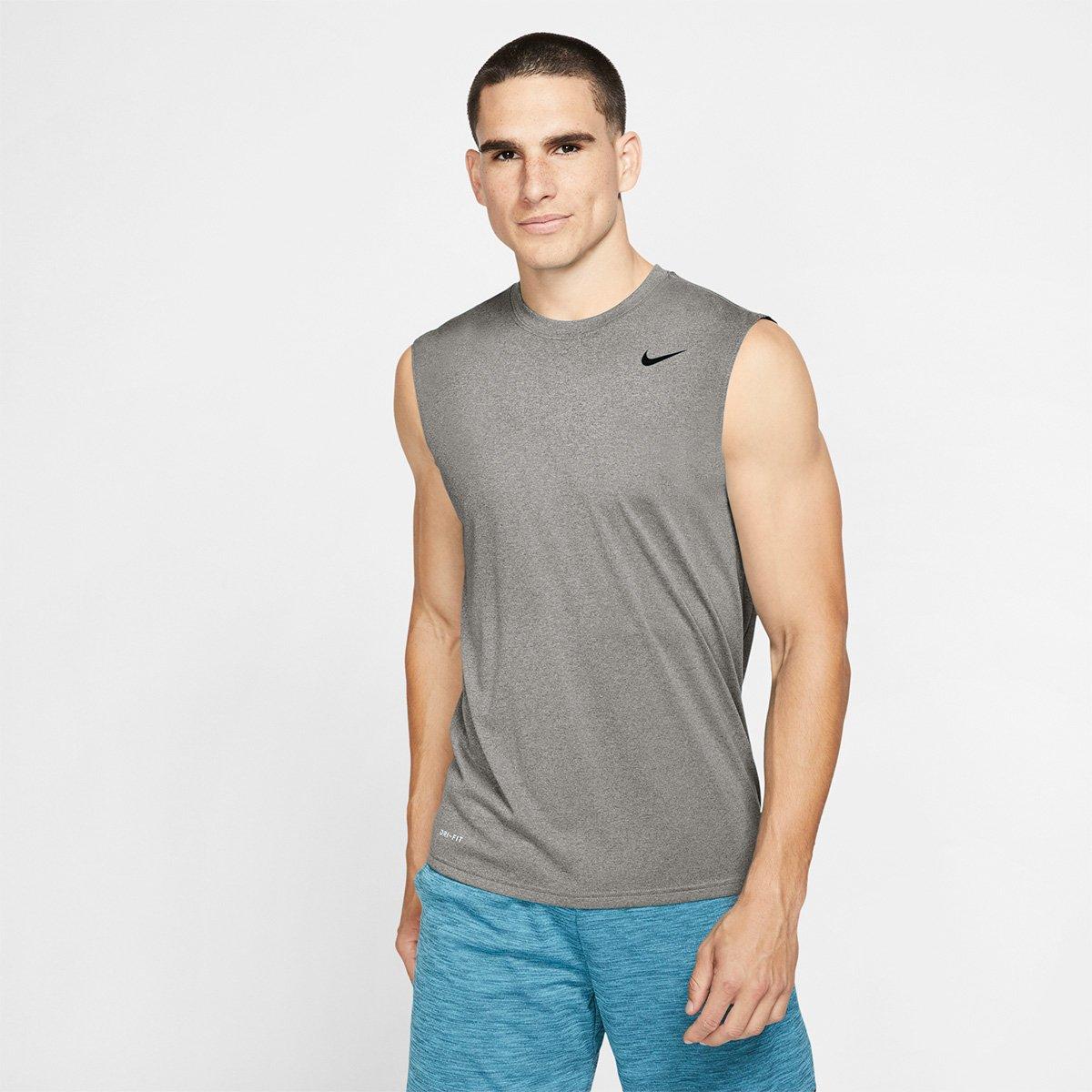 Regata Nike Legend 2.0 Tee Masculina - Preto e Cinza - Compre Agora ... 6baa0171998