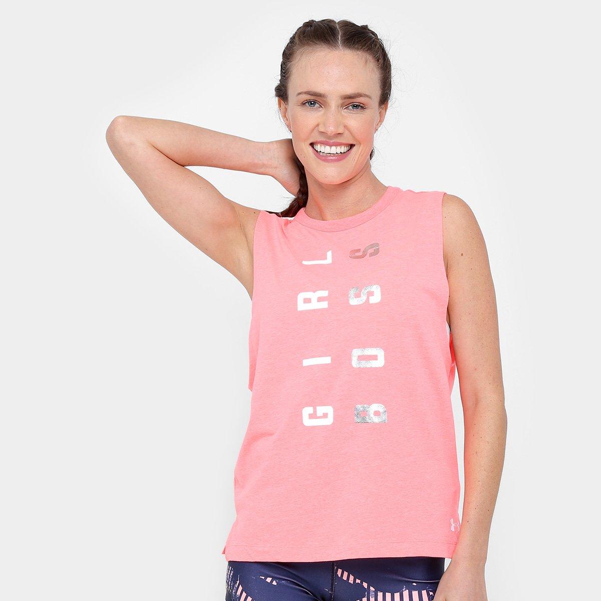 9a40310d5 Regata Under Armour Muscle Boss Feminina - Rosa e Branco - Compre Agora |  Allianz Parque Shop