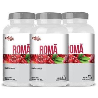 Romã 60 cápsulas Chá Mais Kit 3 unidades