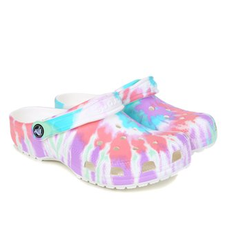 Sandália Crocs Tie Dye Graphic Clog