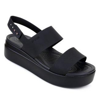 Sandália Flatform Crocs Brooklyn Low Wedge Feminina