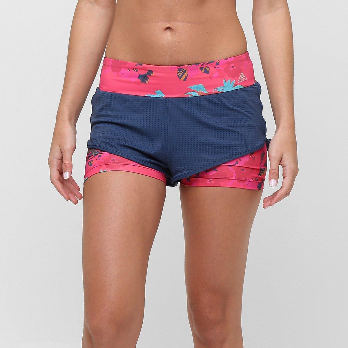 eed8d9168 Short Adidas Adidas Duplo Salinas Feminino - Marinho e Pink | Allianz  Parque Shop