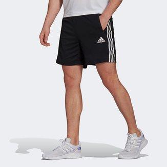 Short Adidas D2M 3 Listras Masculino