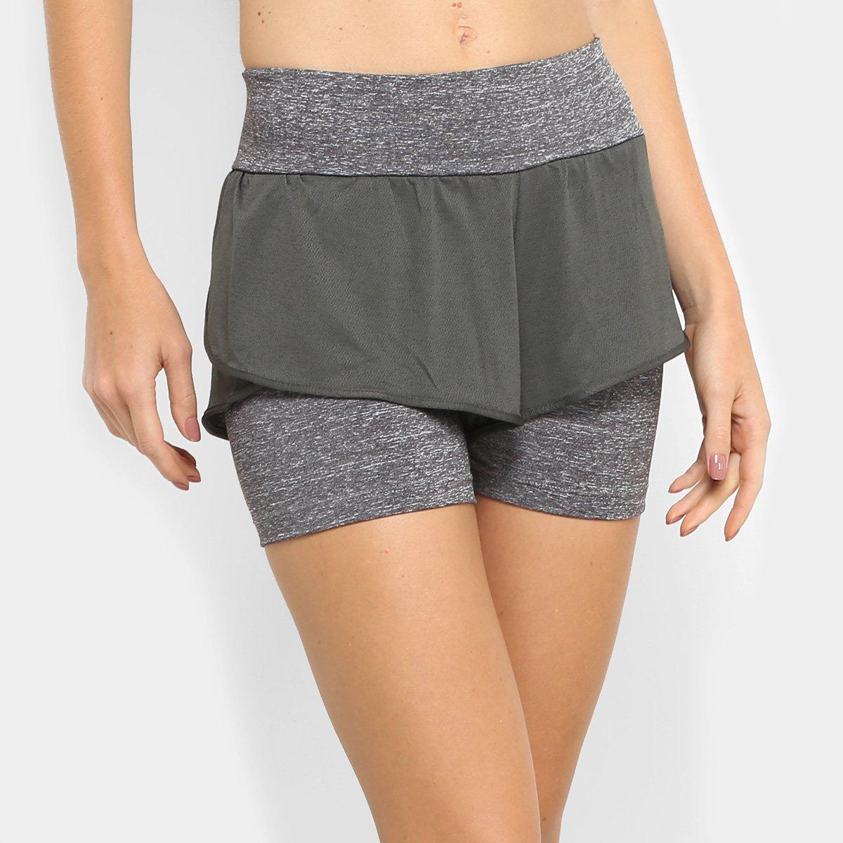 97248bf9b Short Adidas M Dual Feminino - Cinza e Preto - Compre Agora | Allianz  Parque Shop