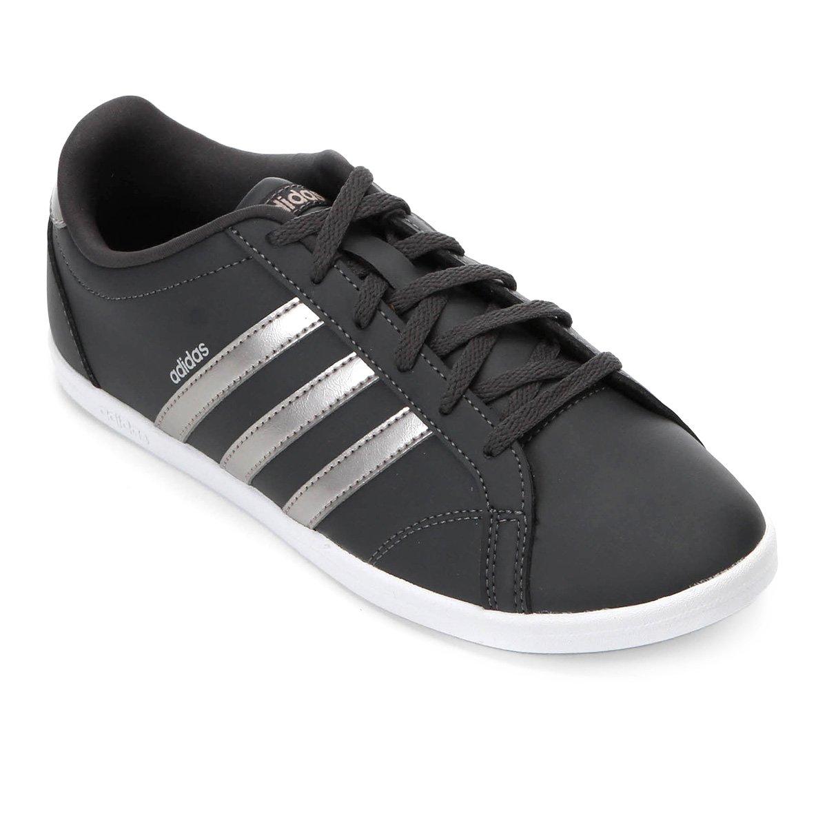 f5745863bd Tênis Adidas Coneo Qt Feminino - Preto e Prata
