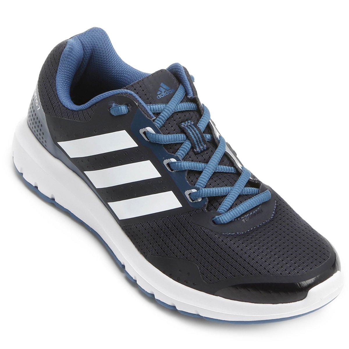 newest e234f 59d6b Tênis Adidas Duramo 7 Feminino - Preto e Azul - Compre Agora   Allianz  Parque Shop