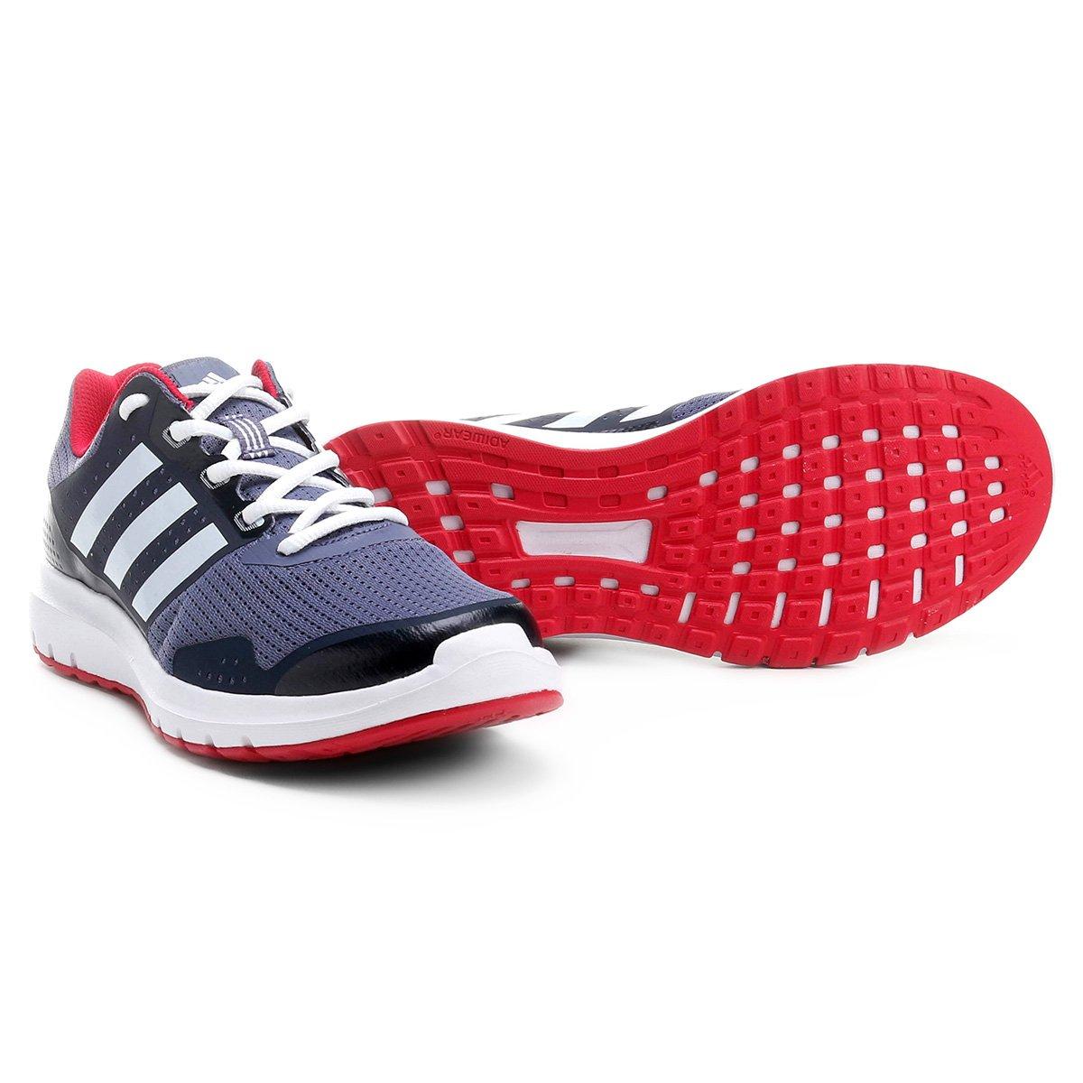 0b2d8cd6f4f Tênis Adidas Duramo 7 Feminino - Chumbo e Vermelho - Compre Agora ...
