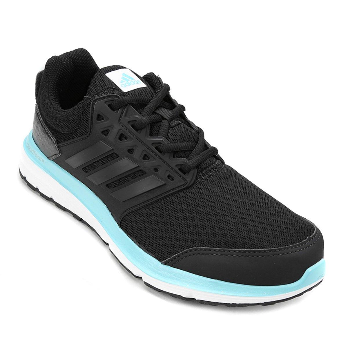 22683459edeed Tênis Adidas Galaxy 3.1 Feminino - Preto e Azul - Compre Agora ...