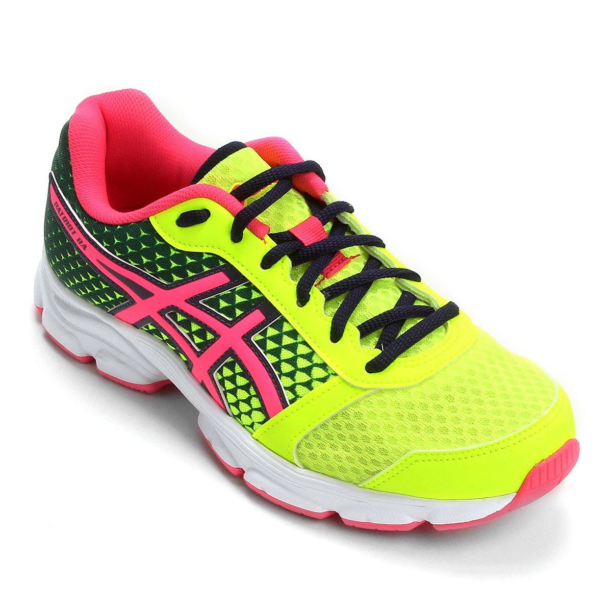 4dd7ac775 Tênis Asics Patriot 8 Feminino - Verde Limão e Pink - Compre Agora ...