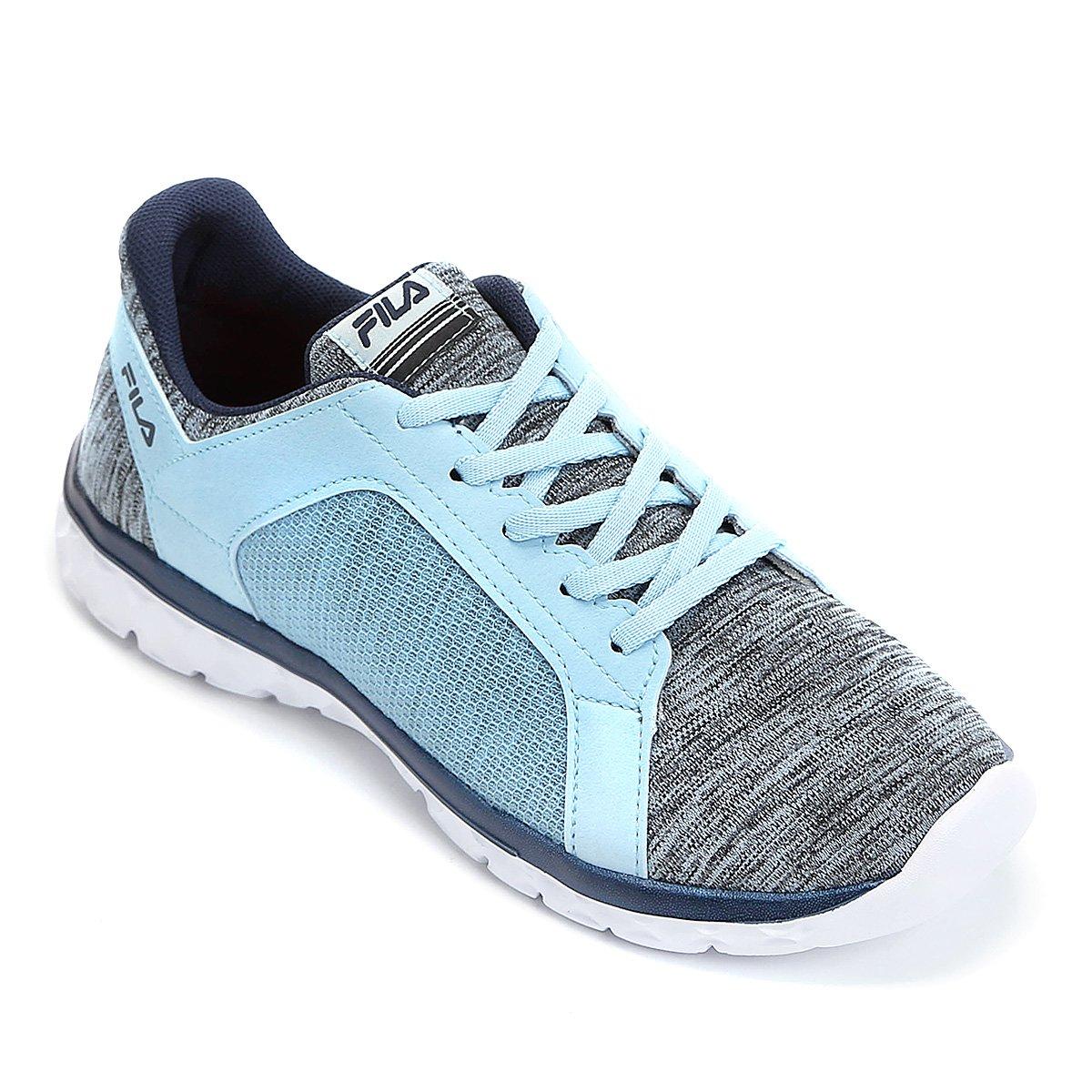 7642462c35d Tênis Fila Lightstep Comfort Feminino - Azul Claro e Branco - Compre Agora