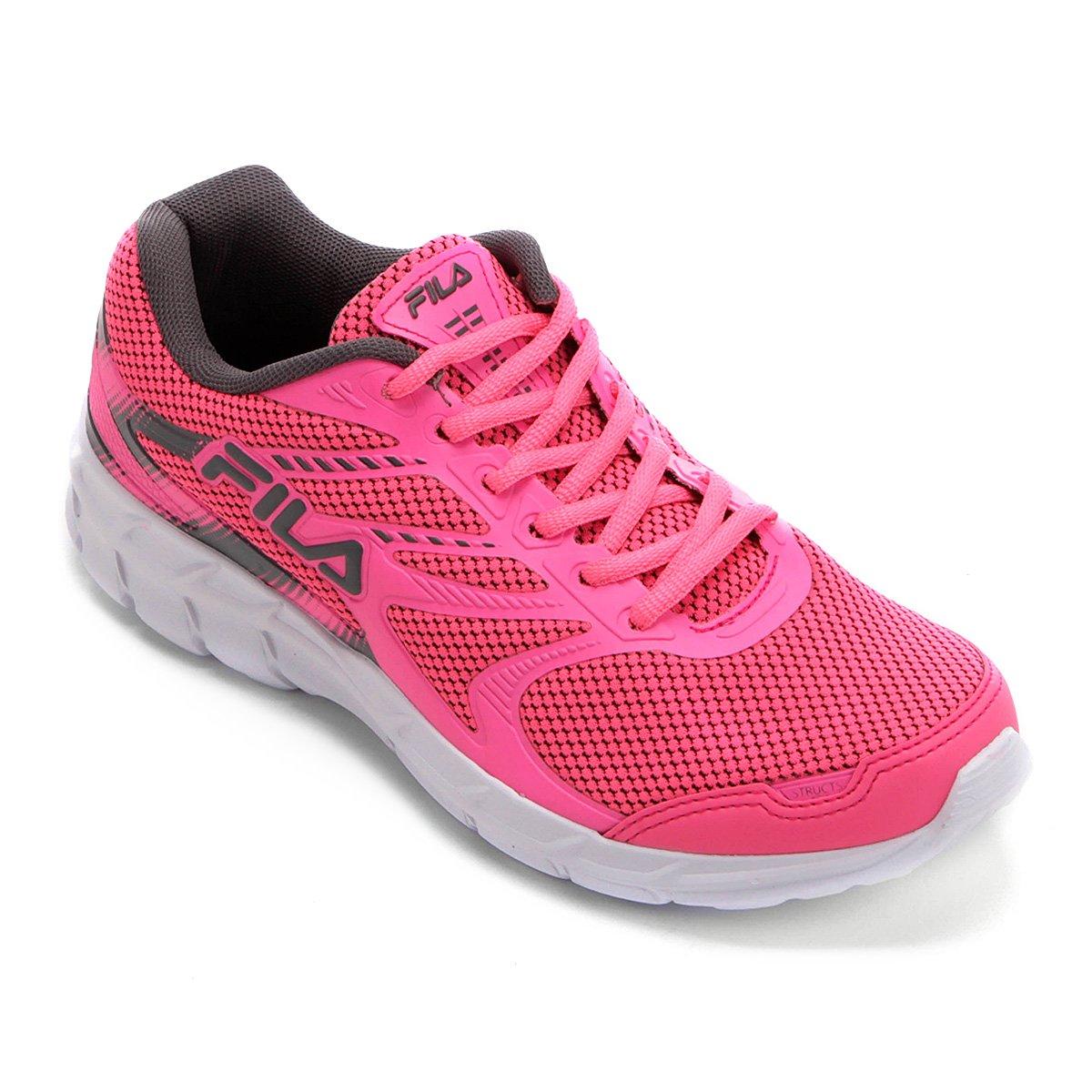 a28c3d8a6 Tênis Fila Structs Feminino - Pink e Branco - Compre Agora