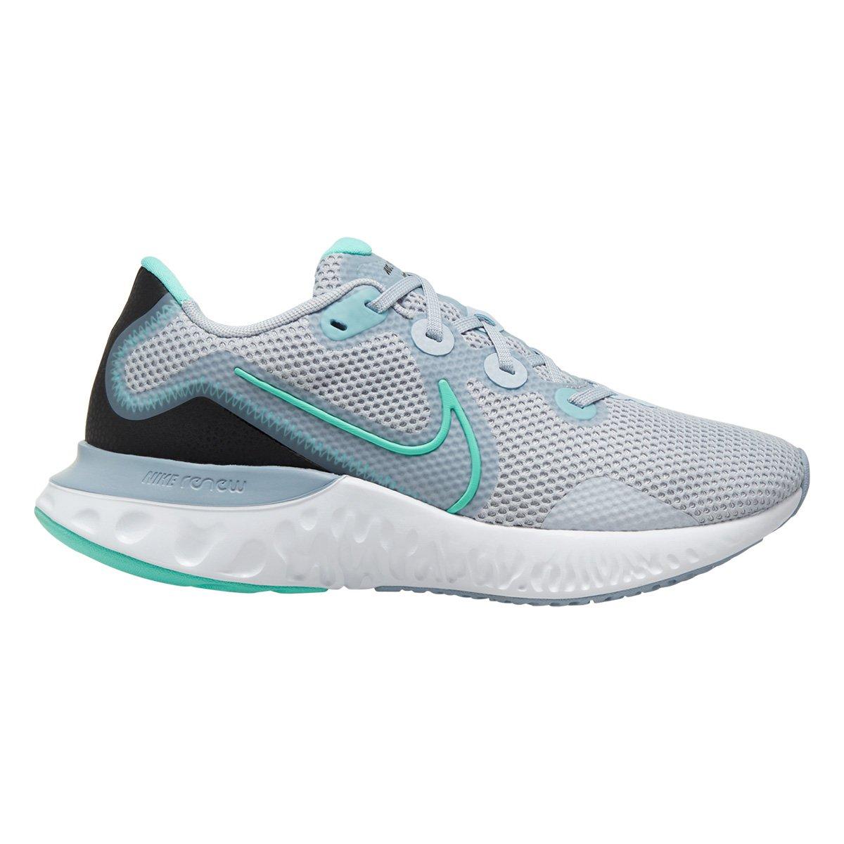 Ale paperback Stabilire  Tênis Nike Renew Run Feminino - Cinza e Azul Claro | Allianz Parque Shop