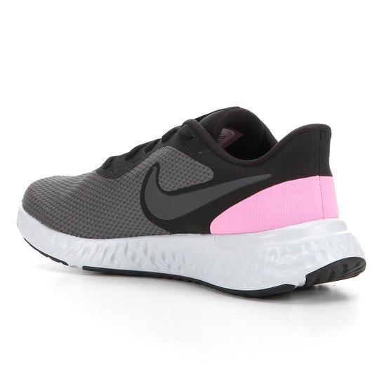 Tênis Nike Revolution 5 Feminino Preto E Rosa
