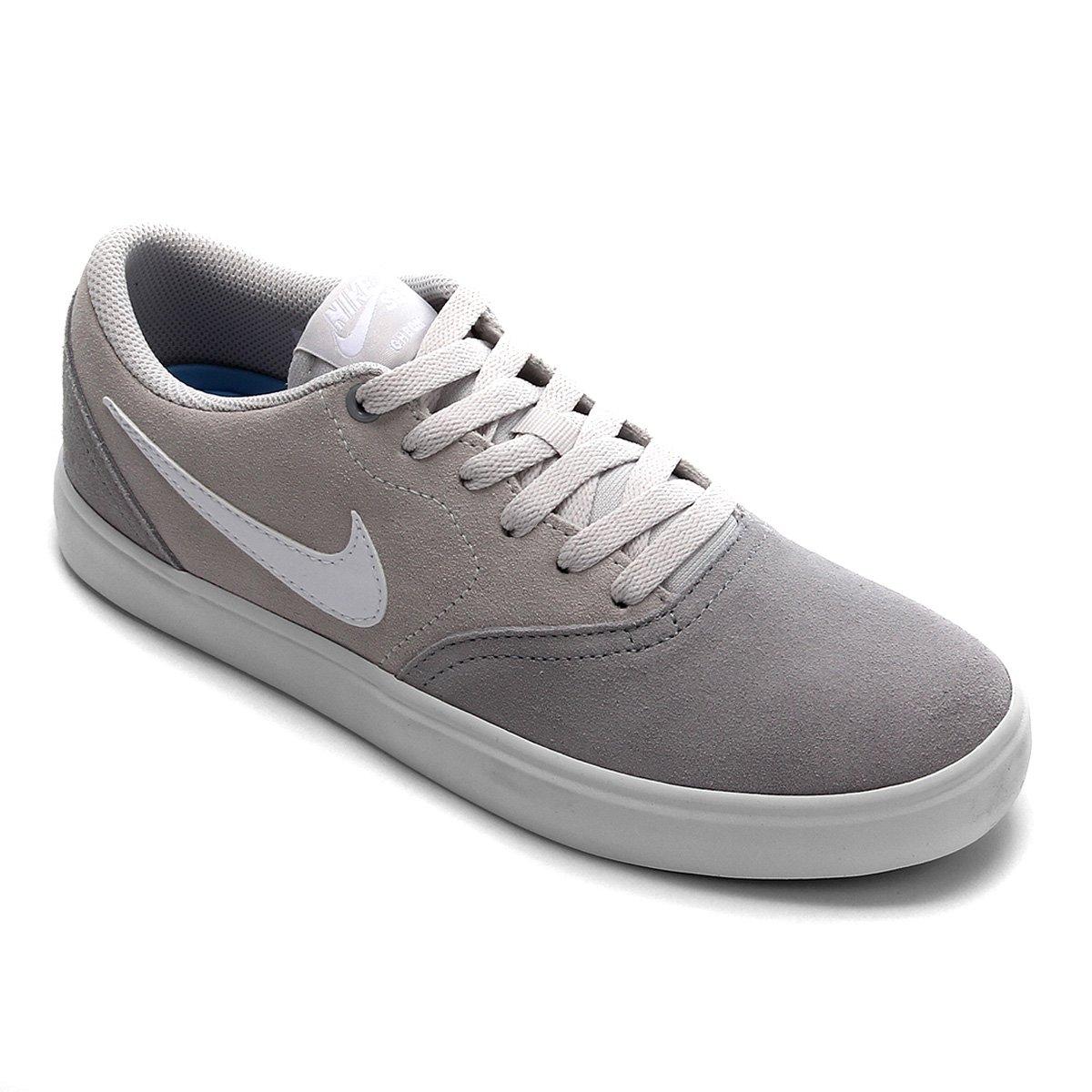 Tênis Nike Sb Check Solar Feminino Cinza E Preto
