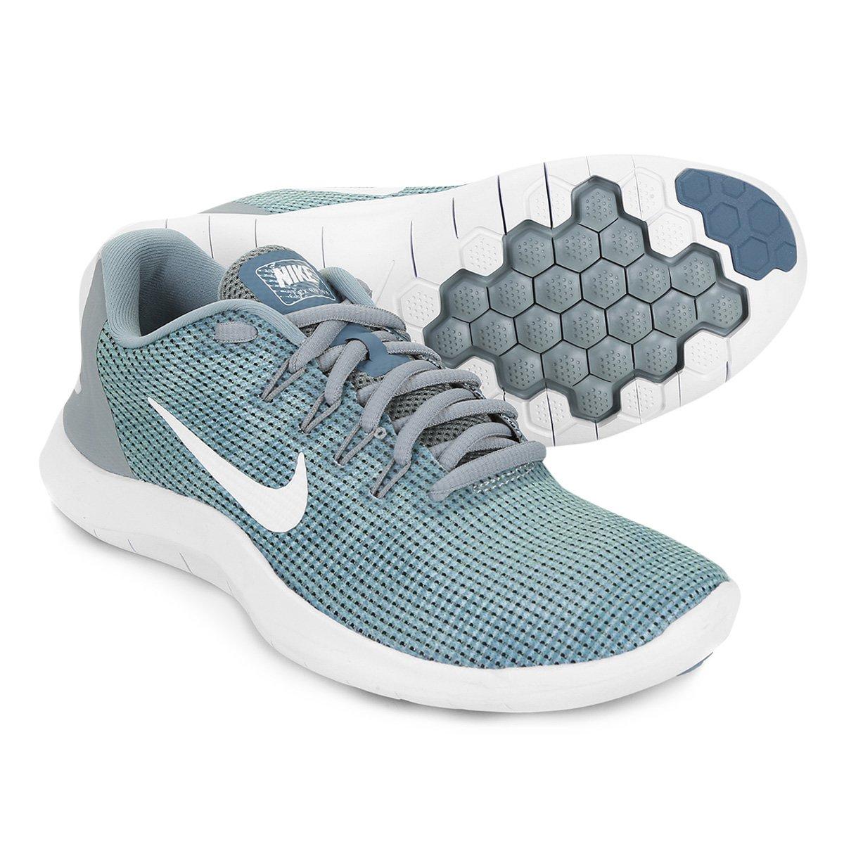 Tênis Nike Wmns Flex 2018 Rn Feminino Verde E Branco