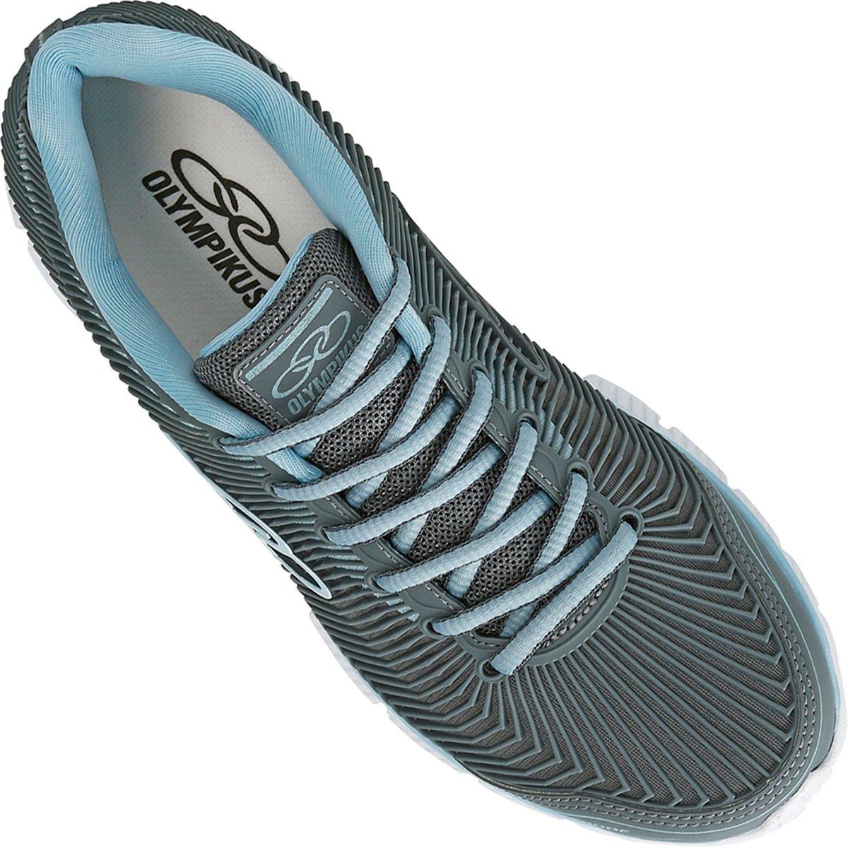 13b9a90b30a Tênis Olympikus Proof Feminino - Cinza e Azul - Compre Agora ...