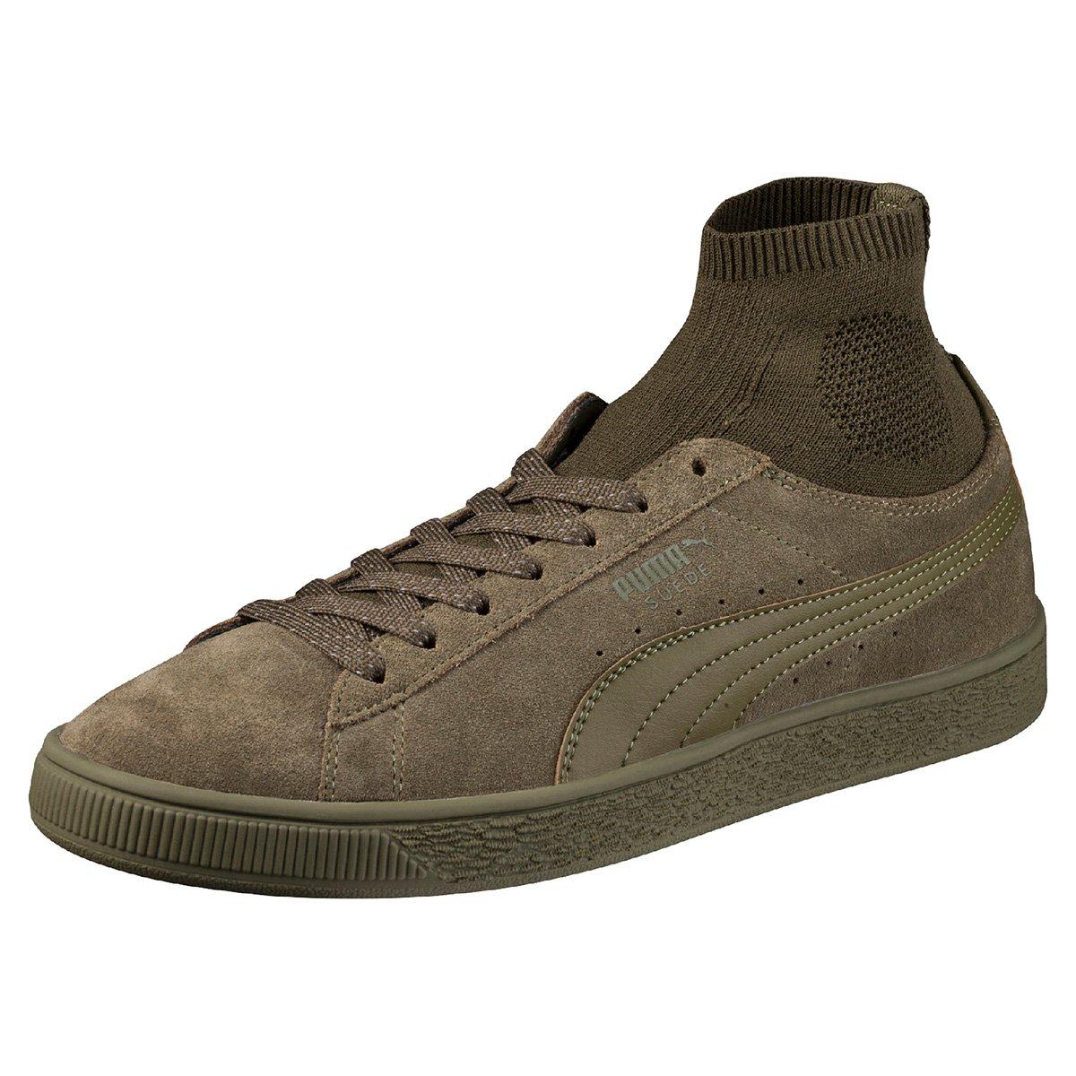 Tênis Puma Suede Classic Sock Musgo
