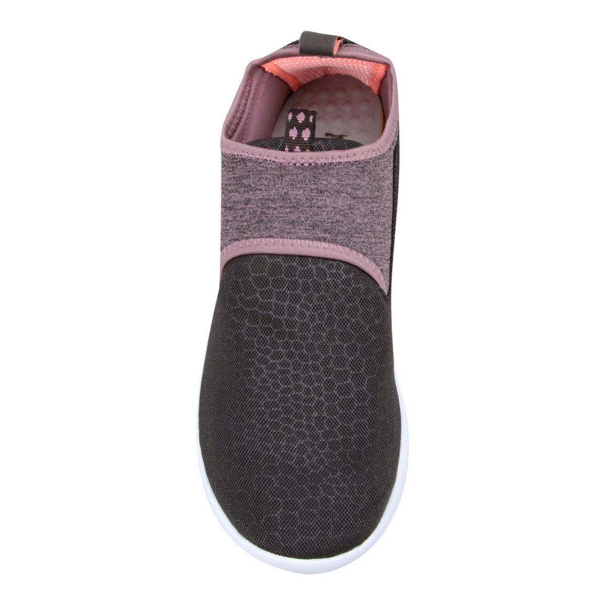 Tênis Reebok Dmx Lite Walk Slip Feminino - Preto e Rosa - Compre ... 5b9c357b7ed1e