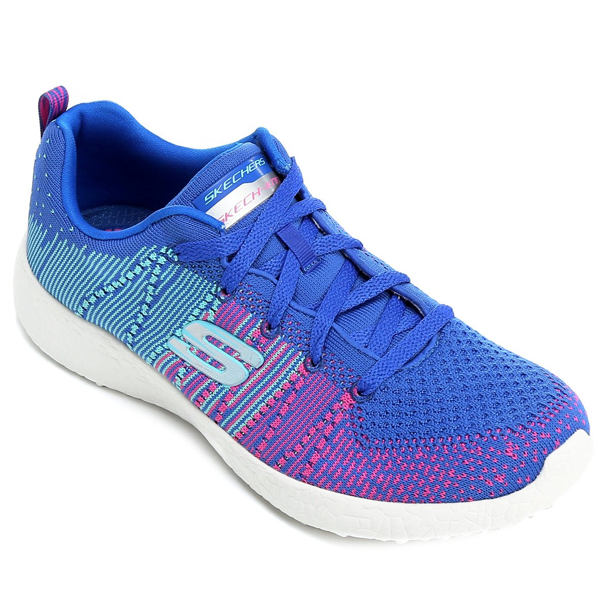 d51e7c069 Tênis Skechers Burst Ellipse Feminino - Azul Turquesa e Pink - Compre Agora