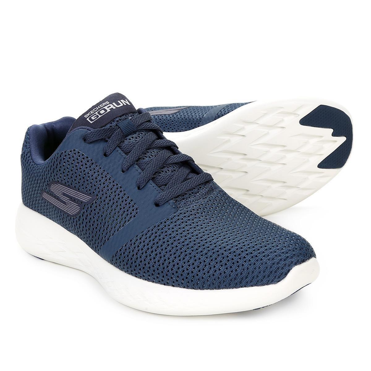 de874adab Tênis Skechers Go Run 600 Refine Masculino - Azul Escuro - Compre Agora