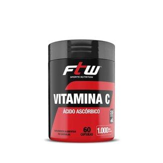 Vitamina C Ácido Ascórbico - 60 cápsulas - FTW